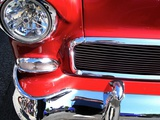 Red and Chrome Metal Print by Jody Miller