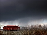 The Red Roof Metal Print by Jody Miller