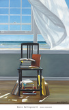Beach Scholar Print by Karen Hollingsworth