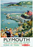 Plymouth Vintage Style Travel Poster Masterprint