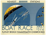 London, England Transport Vintage Style Travel Poster Masterprint
