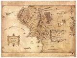 The Hobbit - Middle Earth Map Movie Poster Lámina maestra