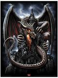 Spiral (Dragon Lava) Fantasy Poster Impressão original
