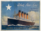 R.M.S. Titanic Vintage Style Travel Poster Mestertrykk