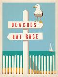 Beaches vs. Rat Race Affiches par  Anderson Design Group