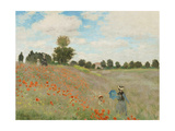 Poppy Field, Near Argenteuil, c.1873 Posters av Claude Monet