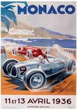 Monaco France (French Rivera) Vintage Style Travel Poster Impressão original