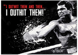 Muhammad Ali - Outwit Outhit Boxing Sports Poster Masterprint