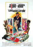 James Bond (Live & Let Die One-Sheet) Movie Poster Print Impressão original