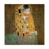 De Kus, ca.1907 Schilderij van Gustav Klimt