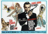 James Bond (From Russia With Love 1) Movie Poster Print Impressão original