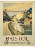Bristol Vintage Style Travel Poster Masterprint
