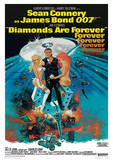 James Bond (Diamonds Are Forever 2) Movie Poster Print Impressão original