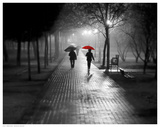 Umbrella Walk Kunstdrucke