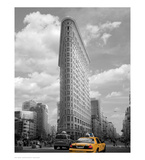 Yellow Cabs at Flatiron Building Posters por Igor Maloratsky