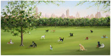 Tails of Central Park Art by Carol Saxe