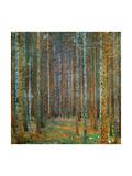 Dennenbos Print van Gustav Klimt