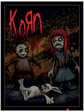Korn - Dead Bunny Music Poster Stampa master