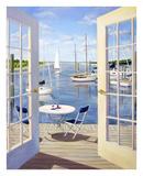 Table on the Harbor Plakater av Carol Saxe
