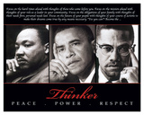 Thinker (Trio): Peace, Power, Respect Prints