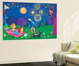 Night Light - Turtle Seinämaalaus tekijänä Elisa Chavarri