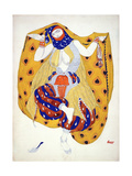 Costume Design for a Dancer in 'Scheherazade', a Ballet First Produced by Diaghilev Reproduction procédé giclée par Leon Bakst