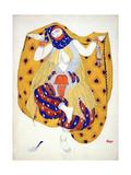 Costume Design for a Dancer in 'Scheherazade', a Ballet First Produced by Diaghilev Giclée-vedos tekijänä Leon Bakst