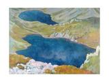 Hinczow Lakes in the Tatra Mountains, 1907 Giclée-tryk af Stanislaw Ignacy Witkiewicz