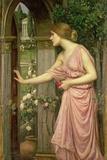 Psyche Entering Cupid's Garden, 1903 Giclée-tryk af John William Waterhouse