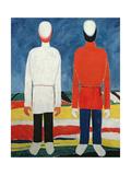 Two Masculine Figures, 1928-32 Giclée-tryk af Kasimir Malevich