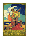 Poster Advertising the 'Exposition Nationale Coloniale', Marseille, April to November 1922 Giclée-Druck von David Dellepiane