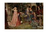The Enchanted Garden, c.1916-17 Giclée-Druck von John William Waterhouse