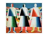 Young Girls in a Field, 1928-32 Impressão giclée por Kasimir Malevich