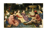 The Decameron, 1916 Giclée-Druck von John William Waterhouse