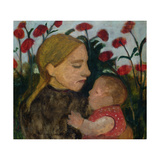 Mother and Child, c.1904 Gicléetryck av Paula Modersohn-Becker