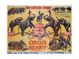 Poster Advertising the 'Circus Henry', 1908 Giclée-Druck von German School