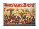 Poster Advertising the 'Ringling Bros.' Circus, c.1900 Giclee Print by  American School
