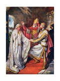 The Marriage of King Arthur and Queen Guinevere, Illustration for 'Children's Stories from… Giclee Print by John Henry Frederick Bacon
