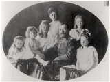 The Family of Tsar Nicholas II (1868-1918) Fotografisk tryk af  Russian Photographer