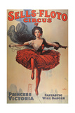 Poster Advertising the 'Sells-Floto Circus', 1920 Giclée-Druck von  American School