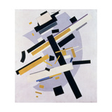 Supremus No. 58 Dynamic Composition in Yellow and Black, 1916 Giclée-tryk af Kasimir Malevich