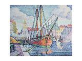 The Port, 1923 Gicléetryck av Paul Signac