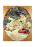 Tea in the Garden, 1910 Impressão giclée por Leon Georges Carre