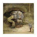 The Troll and the Boy Giclée-Druck von John Bauer