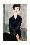 Woman in Black Dress Giclee Print by Amedeo Modigliani