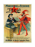 Poster Advertising the 'Ideal' Typewriter Reproduction procédé giclée par  French School