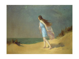 Girl on the Beach Giclee Print by Frank Richards