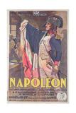Poster Advertising the Film, 'Napoleon', Written by Abel Gance Reproduction procédé giclée par  French School
