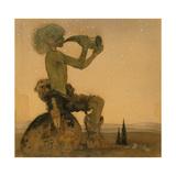 A Fairy Shepherd, 1910 Giclée-Druck von John Bauer