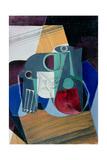 Wine Jug and Glass, 1916 Giclée-tryk af Juan Gris